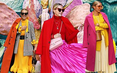 Сочетаем яркие цвета в одежде вместе с модницей Blair Eadie