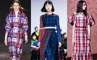 Модные платья в клетку из осенних коллекций 2019