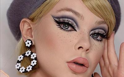 Безумно яркие идеи ретро-макияжа от прекрасной Lizzie