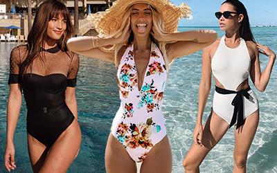 Красивые слитные купальники на модницах из Instagram