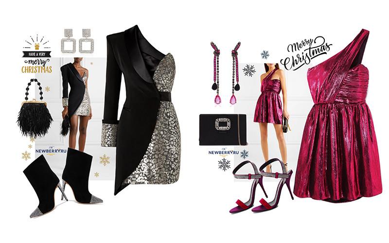 Красивые платья для встречи новогодних праздников в модных сетах.