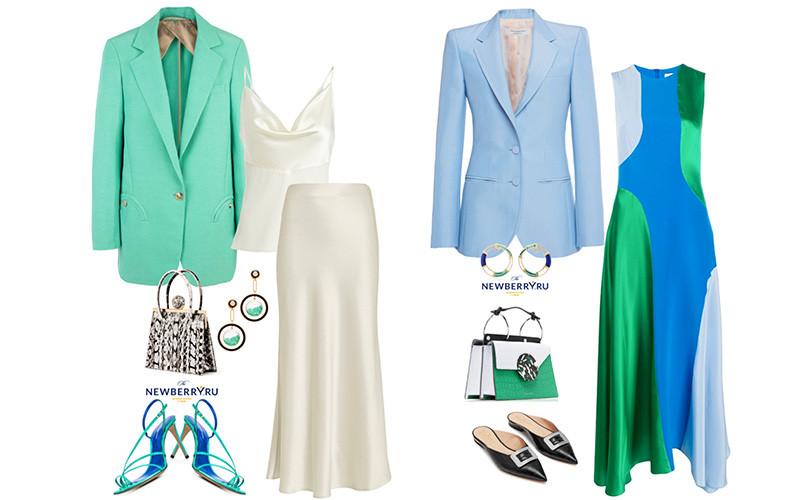 Элегантные женственные образы с жакетами в модных сетах
